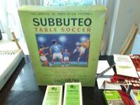 SUBBUTEO FOOTBALL WITH TEAMS , SUBBUTEO CRICKET AND EXCALADO HORSE RACING GAME CIRCA 1967
