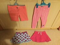 Girls Disney leggings, verbaudet shorts and skorts