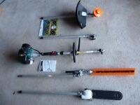 Draper GTP33 32.5 cc Expert Petrol 4-in-1 Garden Tool, Silver
