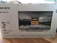 "49"" Sony 4K HDR Smart TV - brand new in box"