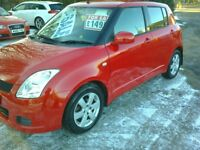 SUZUKI SWIFT. 1.3 GL PETROL. 5 DOOR RED 09 REG.
