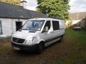 Mercedes Sprinter CDI 313 MWB 2008 Roof rack / Tow bar / 6 seater