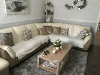 Cream Leather Corner Sofa for sale. £150 ono