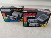 Brand new sealed Limited edition Nintendo snes classic and Nintendo nes classic bundle