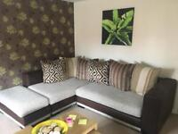 DFS Monaco corner sofa and stool