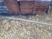 free red roof tiles for collection only , approx 50 tiles