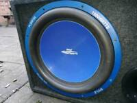 15 inch car Subwoofer and 1000w single chanel amplifier