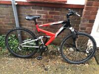 Adults Raleigh Tucana Dual Suspension Mountain Bike21 Speed