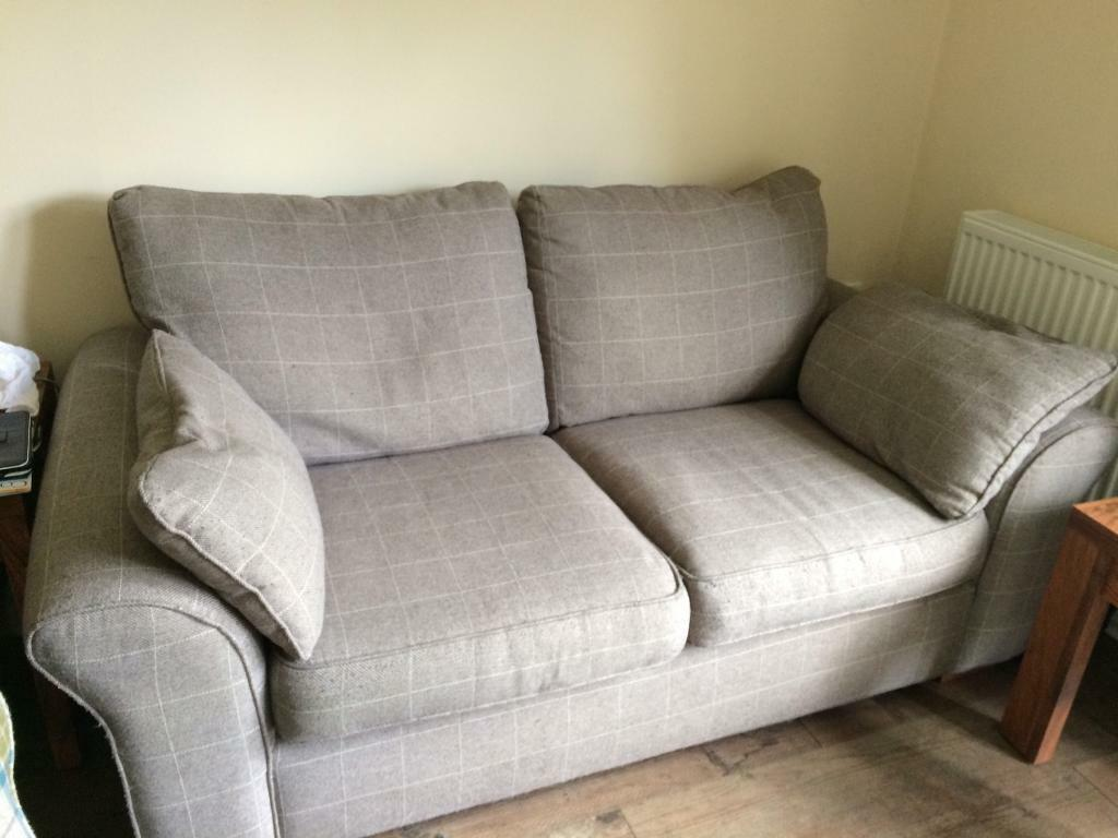 Next 2 Seater Grey Check Sofa In Colchester Essex Gumtree