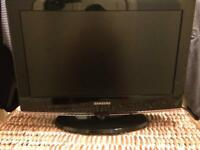 Samsung flat screen TV with DVD