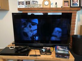 3D TV Blu-Ray player package deal. £300