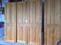 Wooden Four Panel sliding doors (x4) - excellent condition