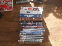 10 dvds 4 boxsets and 12 playstation games