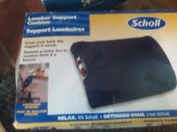 Scholl lumbar support cushion