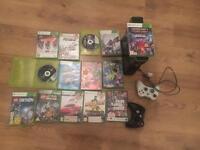 Xbox 360 Elite, 4gb, 15 games, 2 controllers