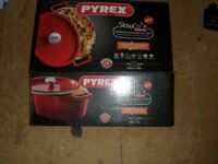 Pyrex Slow Cook Cast Iron 29cm Oval Casserole Dish_Red_BRAND NEW_Bargain