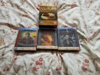 Lord of of rings and the hobbit on blue ray