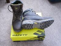 Dunlop Brown Steel Toecap Safety Boots Size 8