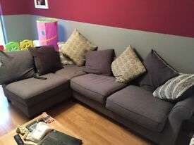 Sofa - Grey L-shaped (Less than Year old) £200 ONO