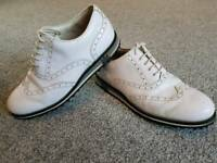 Lambda handmade genuine leather golf shoes size 8