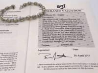 18ct white gold diamond bracelet VALUE £49995