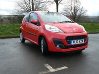 Peugeot 107 1.0 12v Active 3dr - 13800 miles - 2013 - excellent cond - brand new tires - no road tax