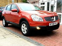 NISSAN QASHQAI 2.0 ACENTA AUTOMATIC 5DR HATCHBACK FSH HPI CLEAR EXCELLENT CONDITION