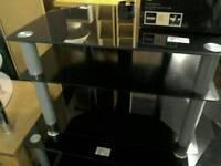 Black glass TV unit #31265 £20