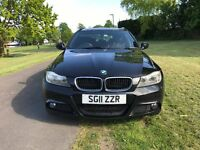 BMW 3 Series 2.0 320d M Sport Touring 5dr. Black estate. Fantastic drive, 184 bhp. FSH. MOT to May18