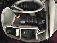 COMPUTER AND CAMERA BUNDLE! Canon 5D Mark II bundle, 24-105mm Kit, 70-300mm, speedlight and extras!
