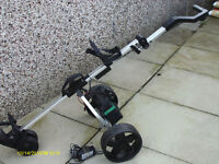 """PROTEAM "" ELECTRIC GOLF TROLLEY C/W BATTERY AND CHARGER"