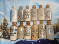 12 ginger beer bottles all in good condition