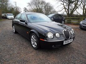 2006 JAGUAR S-TYPE V6 3.0-AUTO-NEW MOT-107K 10 STAMPS-BLACK