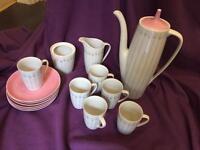 coffee pot cups x 6
