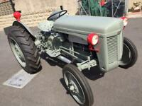 Grey Ferguson tractor with Implements
