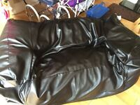 Leather effect beanbag / sofa