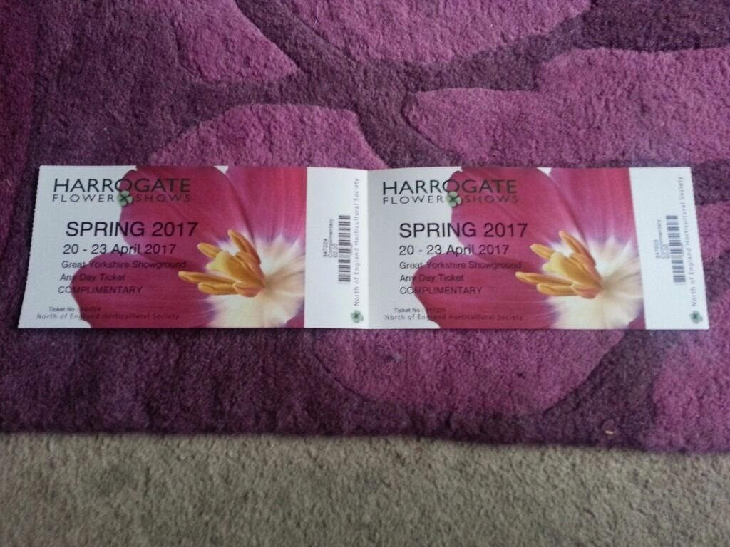 Harrogate Spring 2017 Flower Show Tickets X 2 In Moortown West