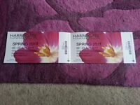 Harrogate Spring 2017 Flower Show Tickets x 2