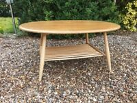 Ercol Oval Coffee Table Windsor Supper Natural Blonde Elm No. 454 Spindle Rack