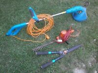 Electric Strimmer, Electric Hedge Trimmer and garden shears