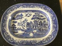 Willow pattern meat dish