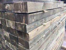 100 X mini railway sleeper, timber/wooden posts 75 x 150 X 2100