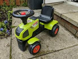 Mini push tractor and trailer, great condition
