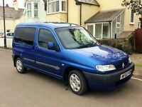 2002 CITROEN BERLINGO 1.9D MULTISPACE 11 MONTHS MOT