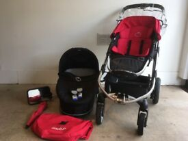 iCandy Apple pushchair, carry cot and MaxiCosi car seat - used, very good condition.