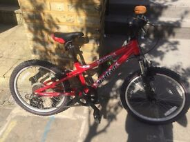 kid bike 20 tyres 6 gears good condition