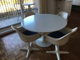 Vintage Arkana Dining Table and 4 Chairs