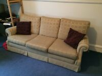 3 piece suite (with cushions)