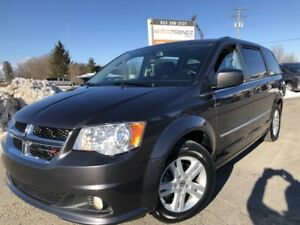2017 Dodge Grand Caravan Crew Heated Leather and Steering! Lo...