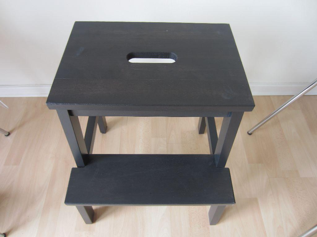 ikea bekväm malm step stool black brown x 2 excellent condition